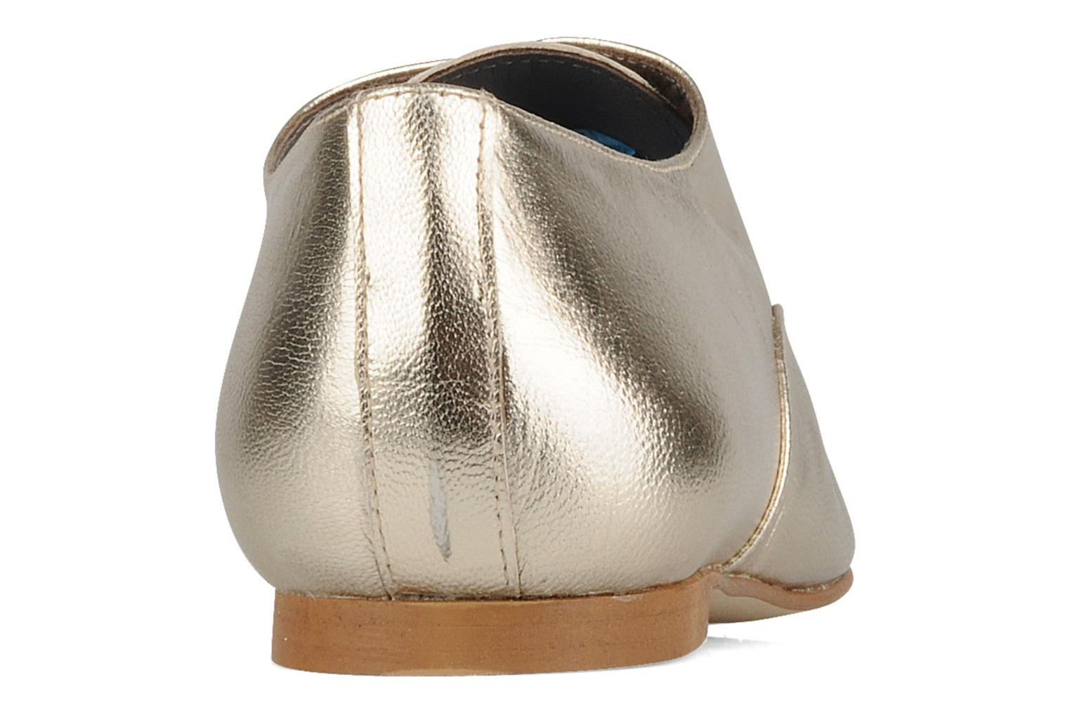 Lace-up shoes Emma Go Juddy Bronze and Gold view from the right