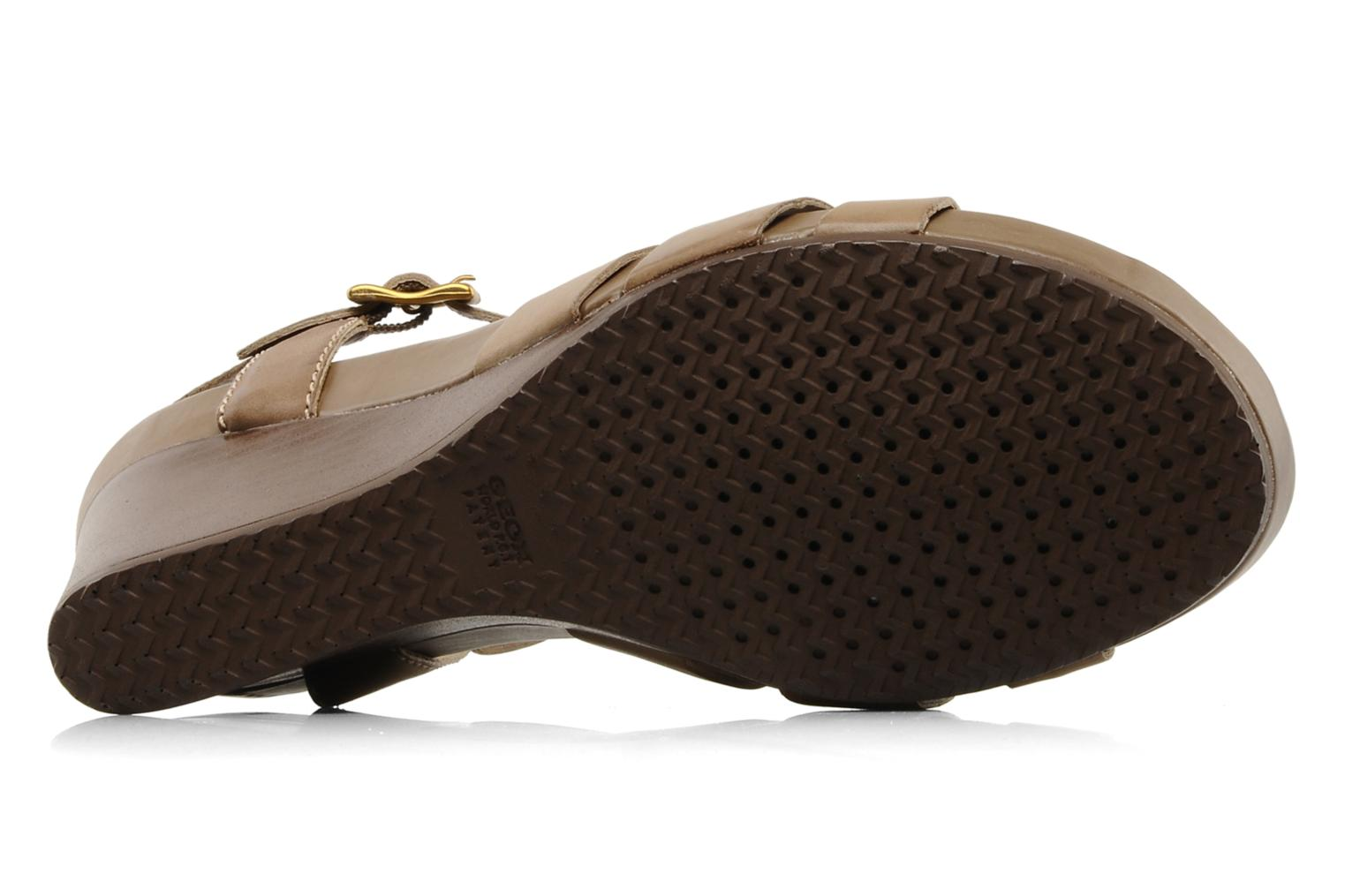 Sandals Geox D roxy z Brown view from above