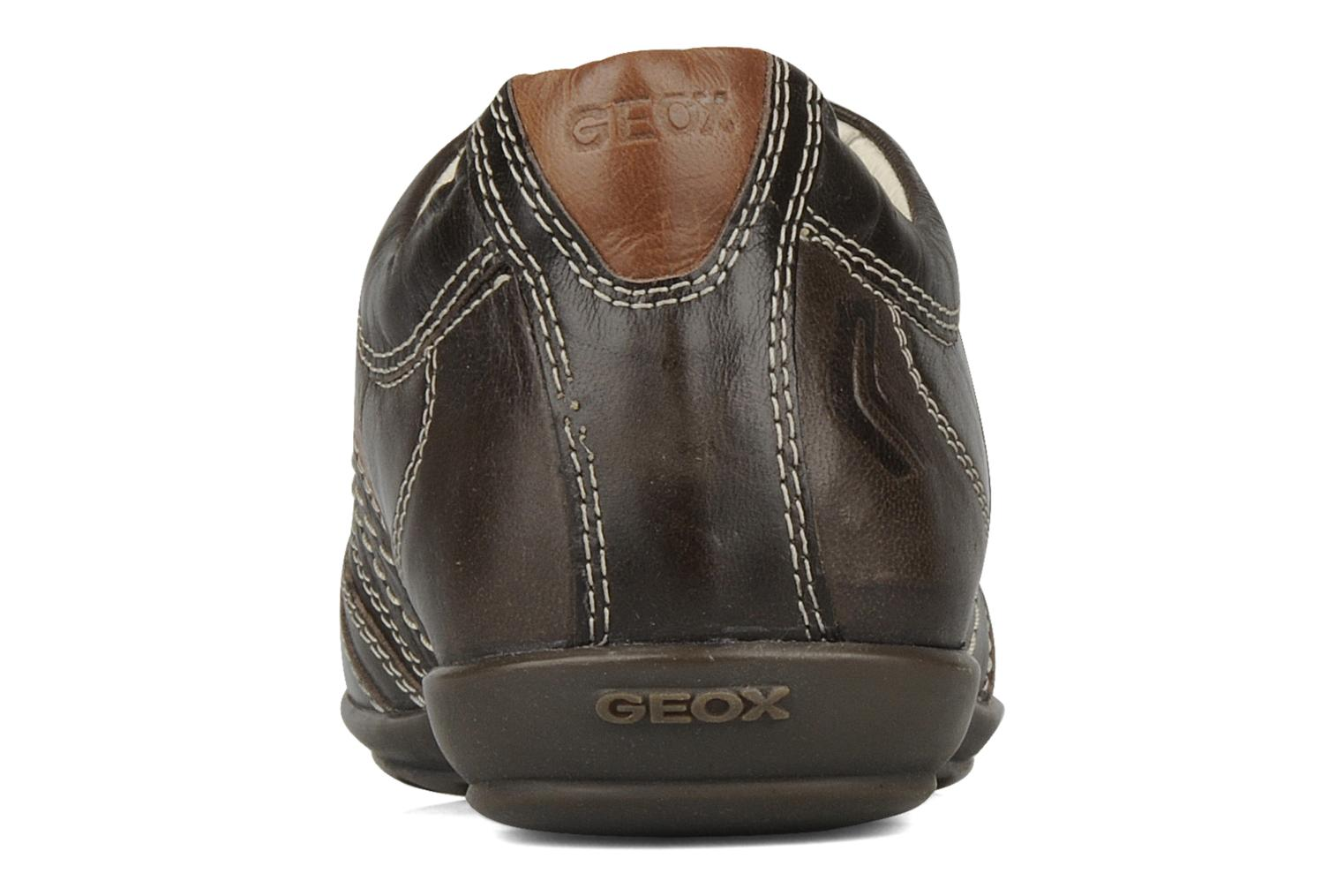 Trainers Geox U icona a Brown view from the right