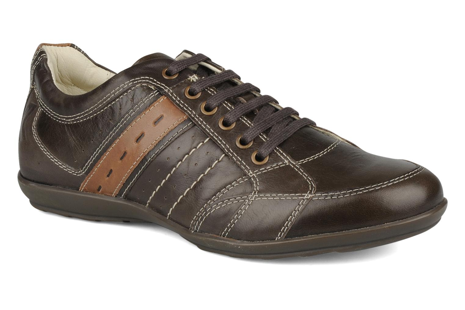 Trainers Geox U icona a Brown detailed view/ Pair view