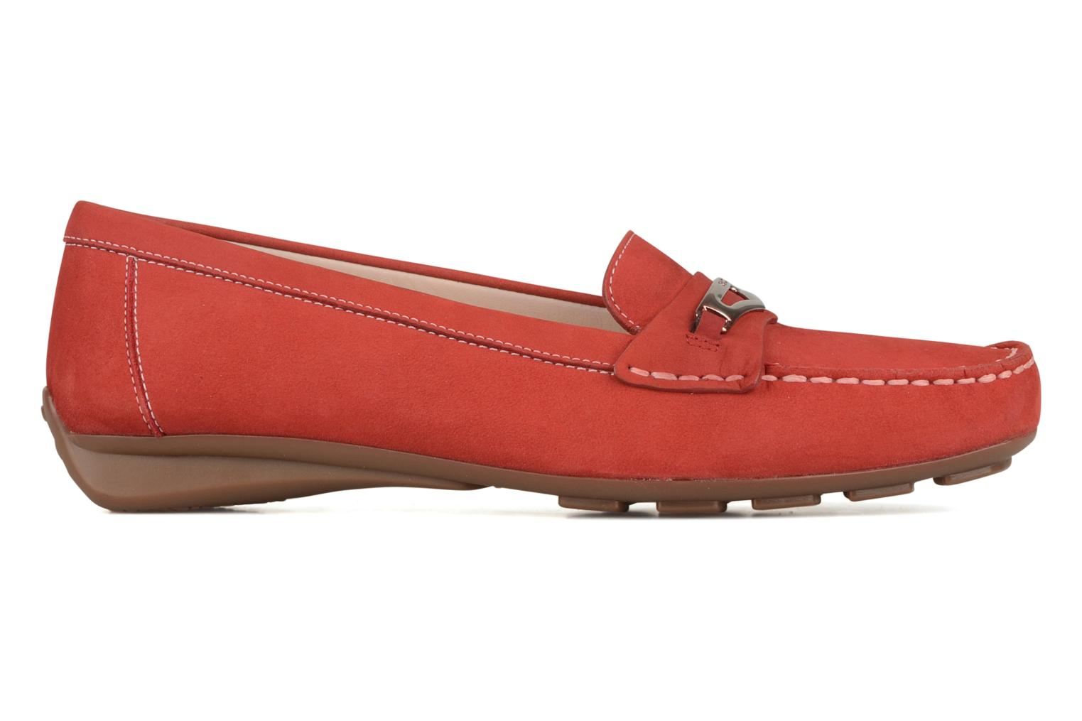 Loafers Geox D grin a Red back view