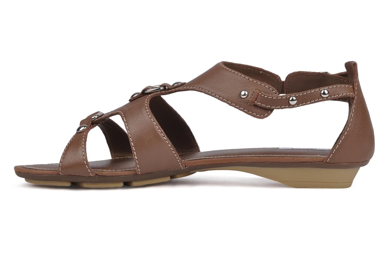 Sandals Geox D felisa b Brown front view