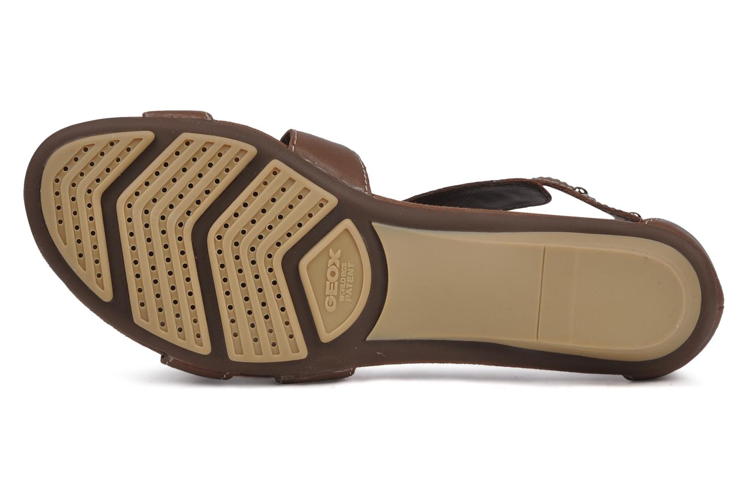 Sandals Geox D felisa b Brown view from above