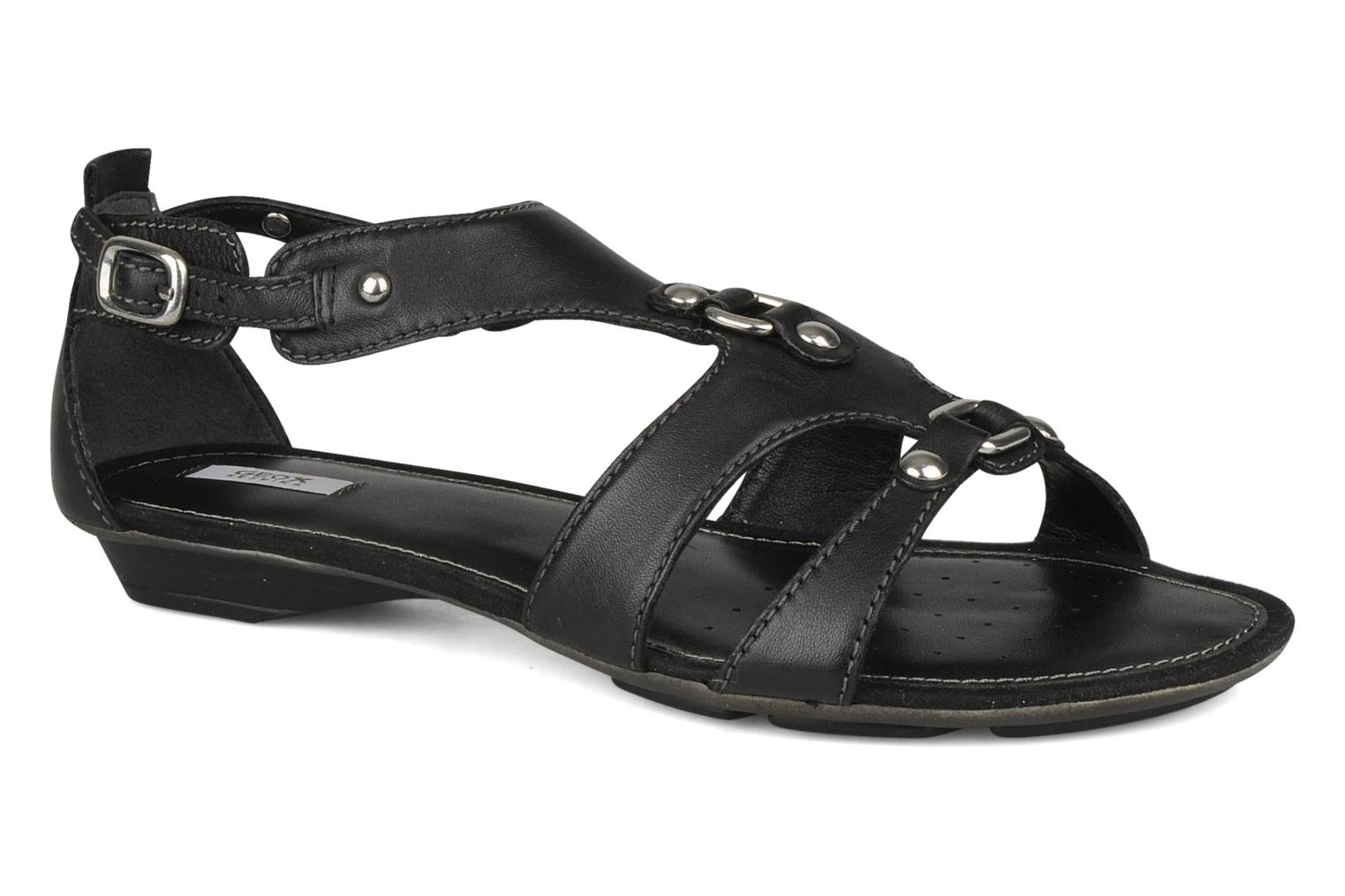 Sandals Geox D felisa b Black detailed view/ Pair view