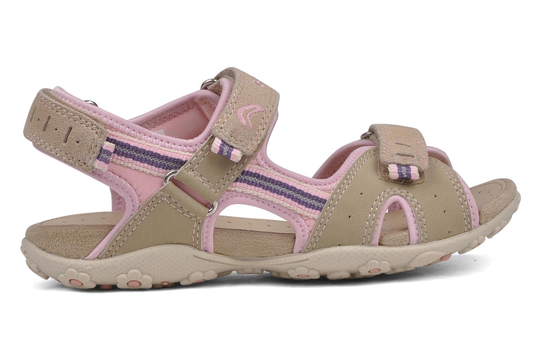 Sport shoes Geox J s.roxanne r Beige back view