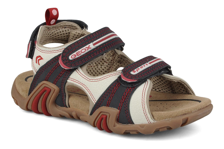 Sport shoes Geox J s.safari m White detailed view/ Pair view