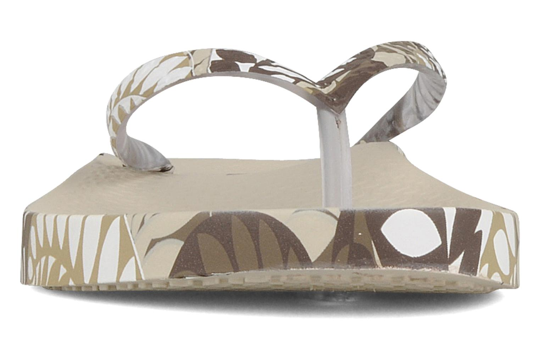 Tongs Ipanema Anatomic fashion f. Beige vue portées chaussures