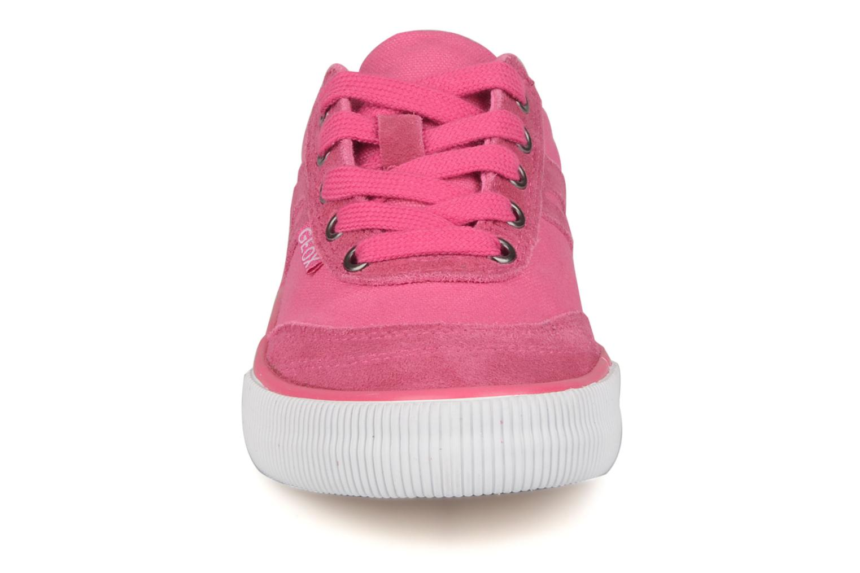 Baskets Geox J club girl z Rose vue portées chaussures