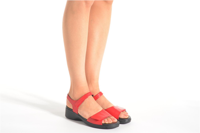 Sandales et nu-pieds Stonefly Aqua II 7 Rouge vue bas / vue portée sac