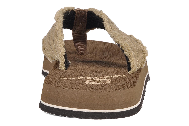 Slippers Skechers Fray 60421 Bruin rechts