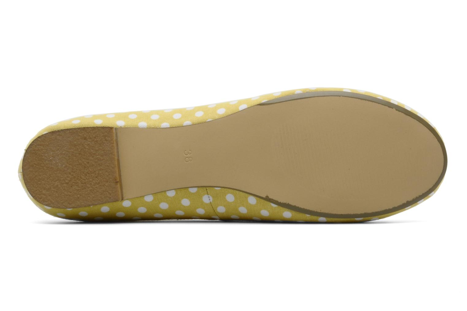 Ballet pumps Georgia Rose Pakita Yellow view from above