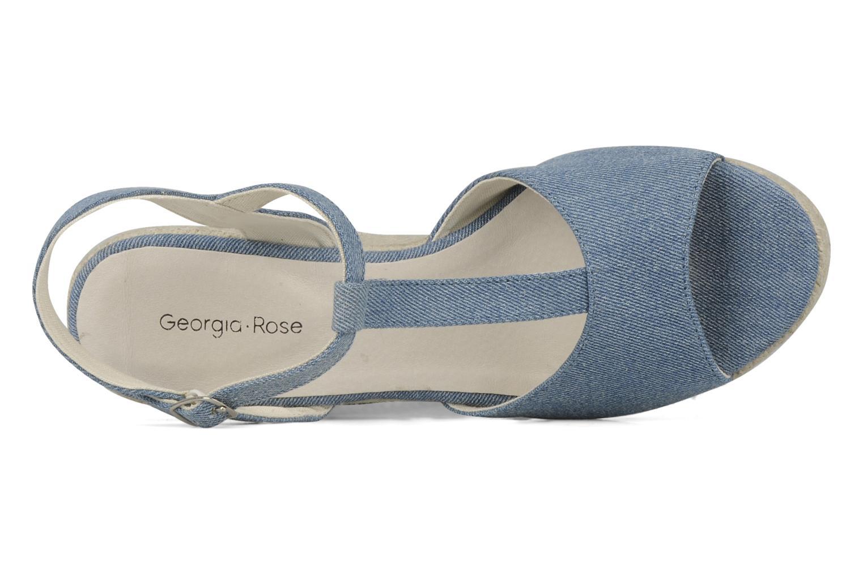 Sandales et nu-pieds Georgia Rose Uly Bleu vue gauche