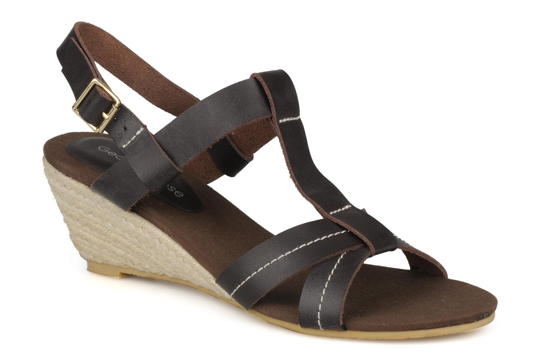 Sandaler Georgia Rose Mirna Brun detaljeret billede af skoene