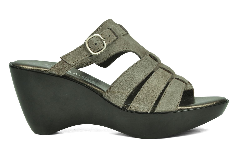 Sandales et nu-pieds Espace Angie Gris vue derrière