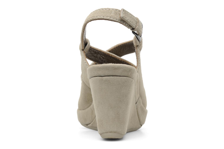 Sandales et nu-pieds Rosemetal Laney Beige vue droite