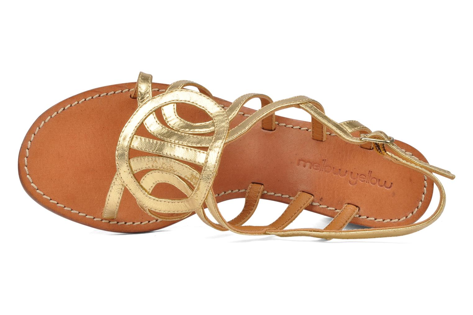 Sandals Mellow Yellow Jargon Bronze and Gold view from the left