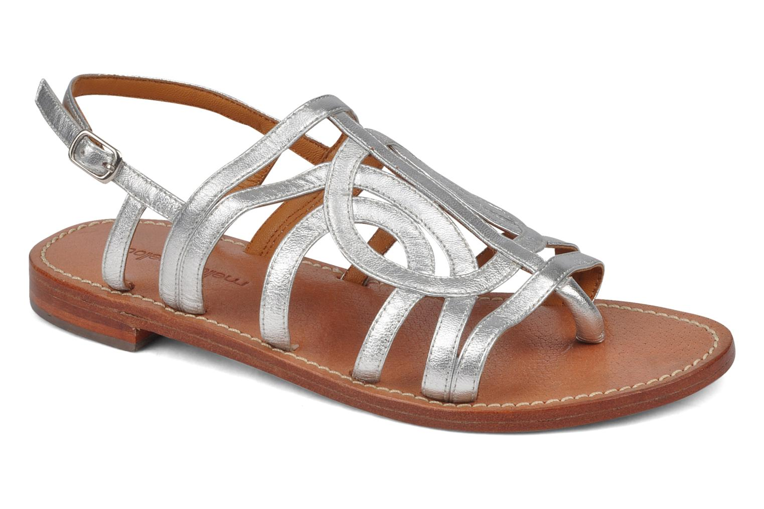 Sandals Mellow Yellow Jortensia Silver detailed view/ Pair view