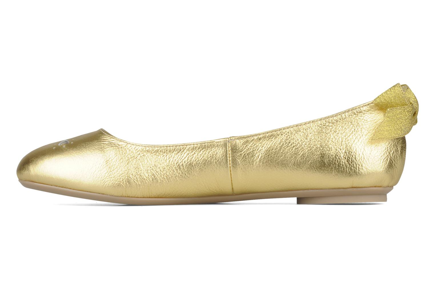 Ballet pumps Mellow Yellow Junior Bronze and Gold front view