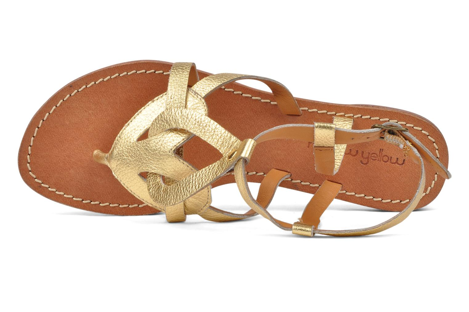 Sandals Mellow Yellow Joke Bronze and Gold view from the left