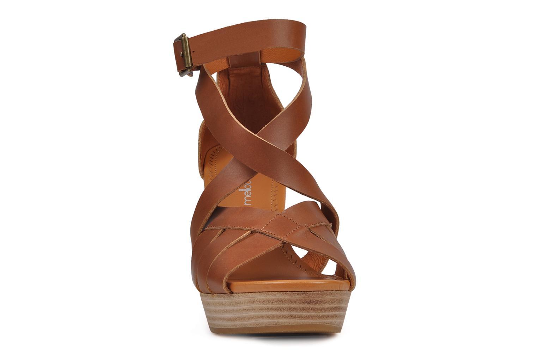 Sandals Mellow Yellow Jilson Brown model view