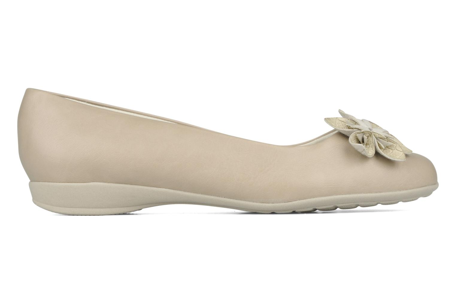 Ballerines Piccadilly Clarence Beige vue derrière