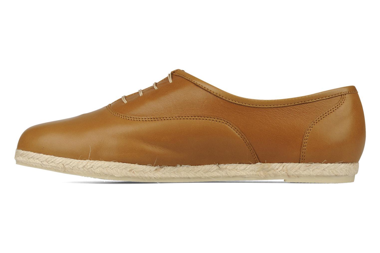 Zapatos con cordones Zespà Salhia Marrón vista de frente