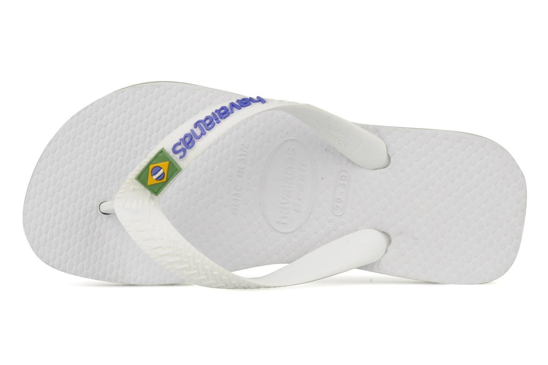 Chanclas Havaianas Brasil Logo E Blanco vista lateral izquierda