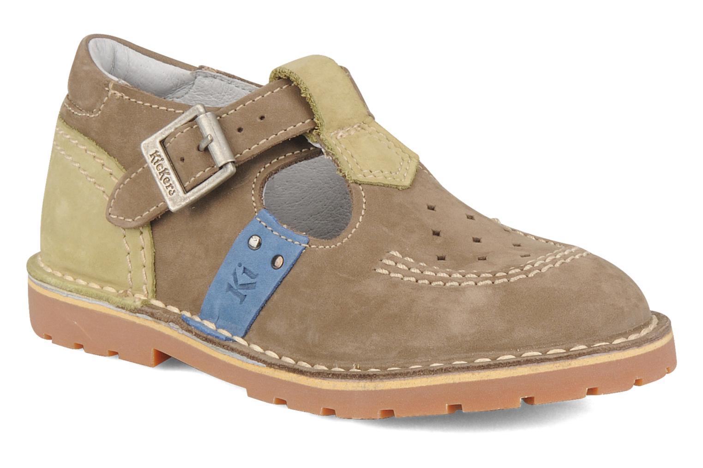 Bottines et boots Kickers Liko Vert vue détail/paire