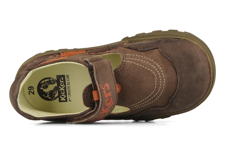 Sandales et nu-pieds Kickers Racky Marron vue gauche