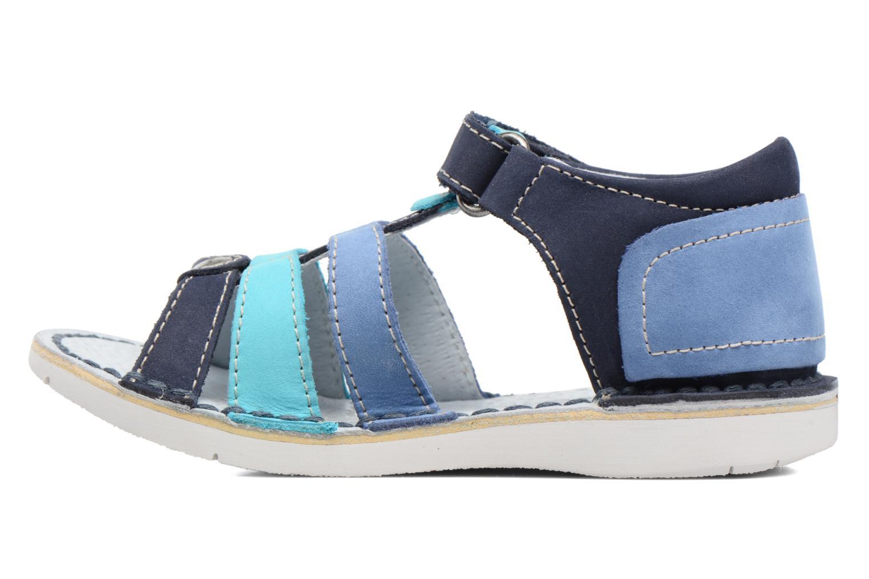 Sandaler Kickers Woopy Blå se forfra