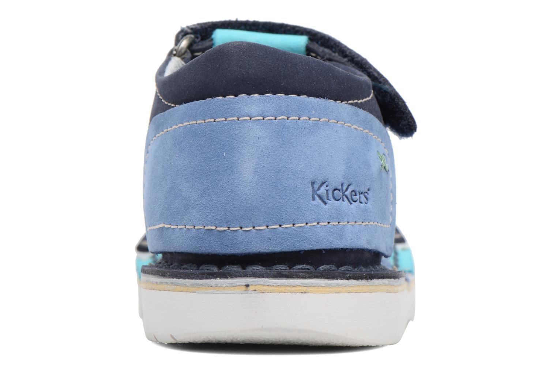 Sandales et nu-pieds Kickers Woopy Bleu vue droite