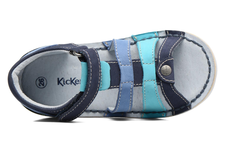 Sandaler Kickers Woopy Blå se fra venstre