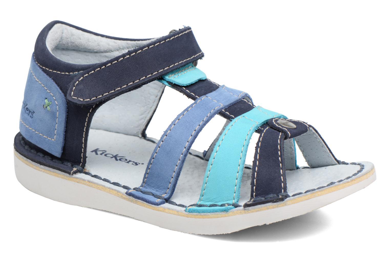 Sandaler Kickers Woopy Blå detaljeret billede af skoene
