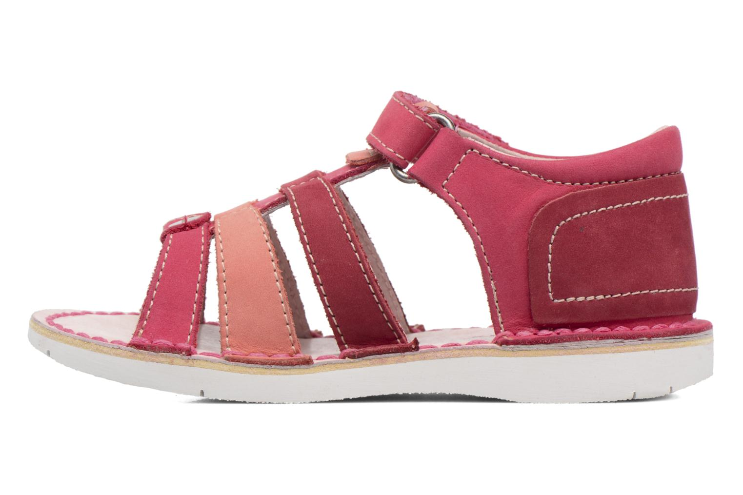 Sandaler Kickers Woopy Pink se forfra