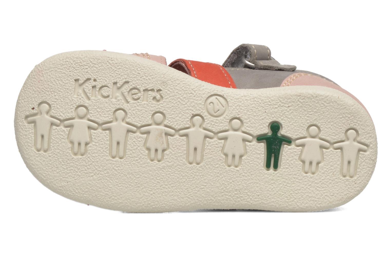 Sandales et nu-pieds Kickers Babysun Gris vue haut