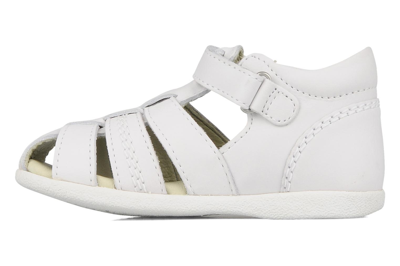 Sandales et nu-pieds Kickers Babysun Blanc vue face