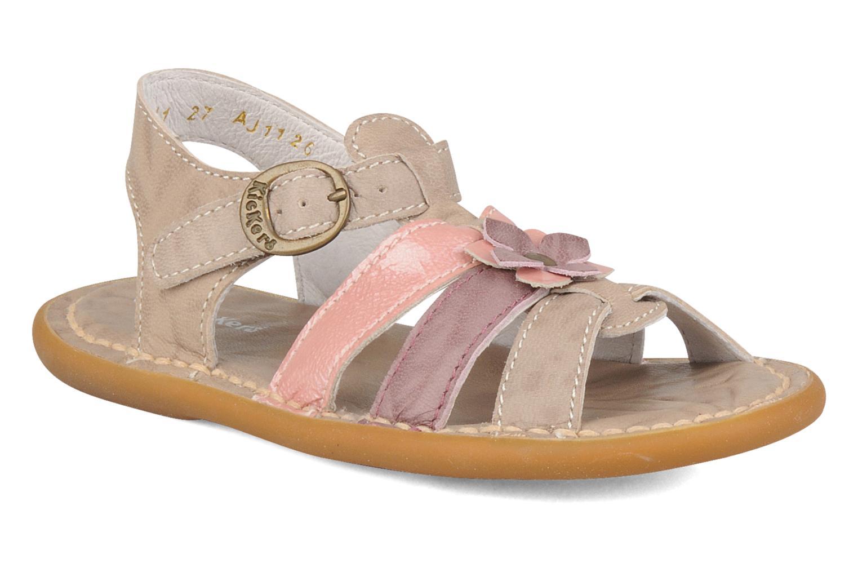 Sandales et nu-pieds Kickers Milki Beige vue détail/paire