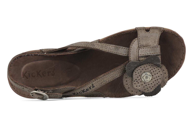 Sandales et nu-pieds Kickers Expedito Marron vue gauche