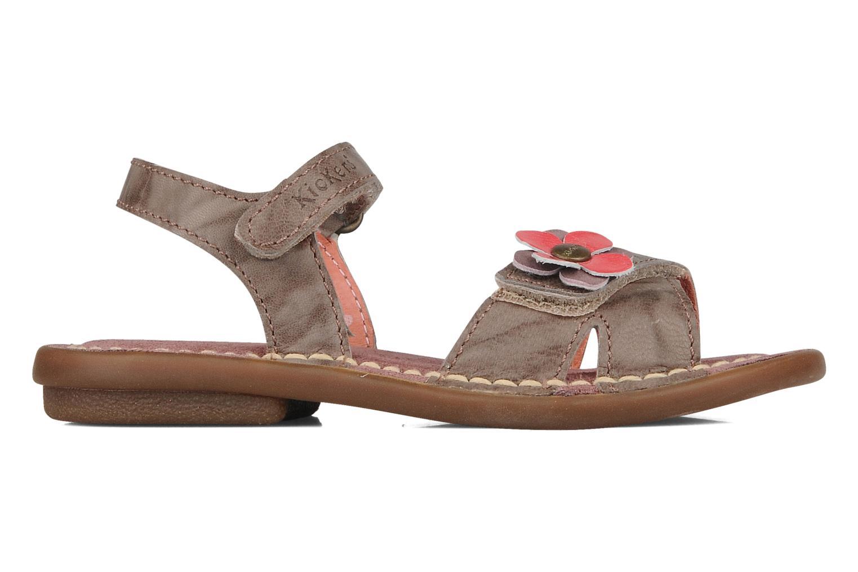 Sandales et nu-pieds Kickers Monday Marron vue derrière