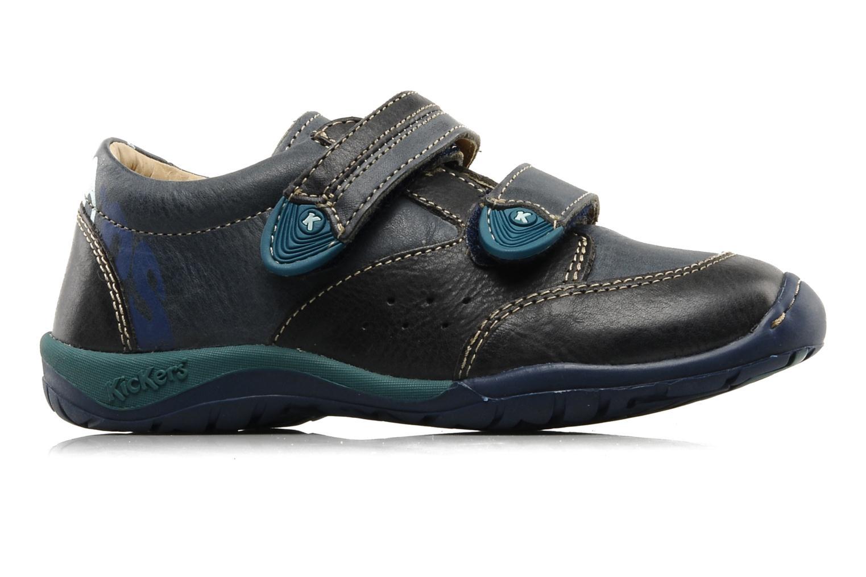 Schoenen met klitteband Kickers Spred Blauw achterkant