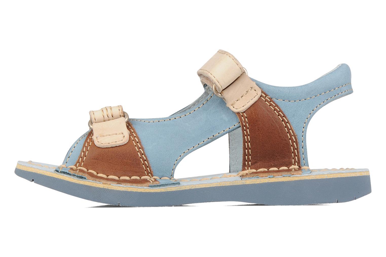 Sandales et nu-pieds Kickers Woaza Bleu vue face