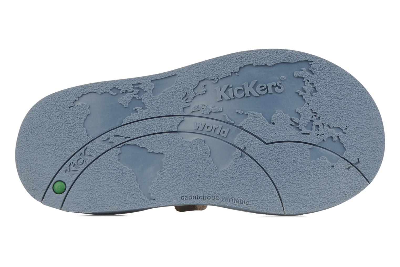 Sandales et nu-pieds Kickers Woaza Bleu vue haut
