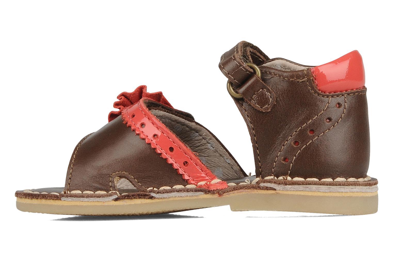 Sandales et nu-pieds Kickers Colombe B Marron vue face