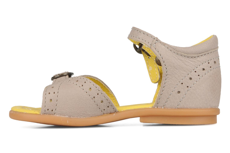 Sandales et nu-pieds Kickers Stella Gris vue face