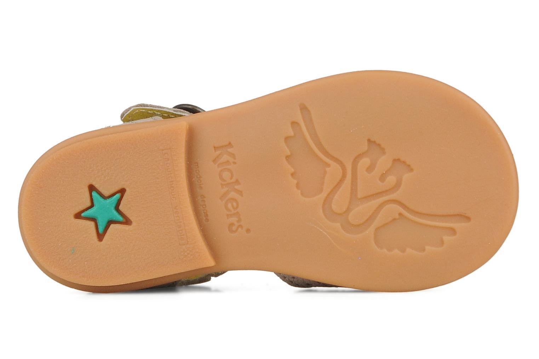 Sandales et nu-pieds Kickers Stella Gris vue haut
