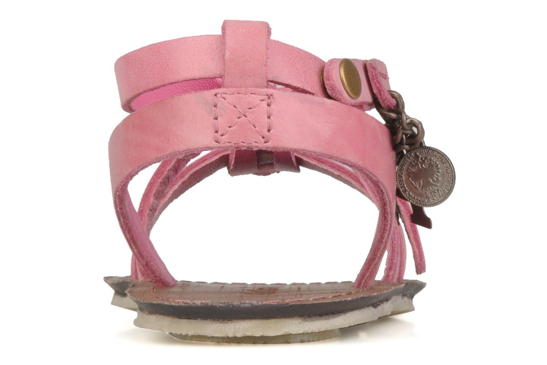 Sandalen Kickers Lioumi rosa ansicht von rechts