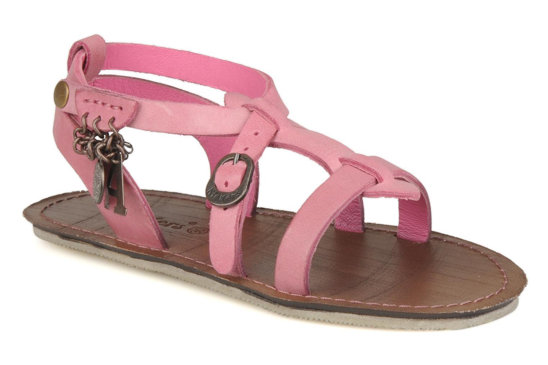 Sandales et nu-pieds Kickers Lioumi Rose vue détail/paire