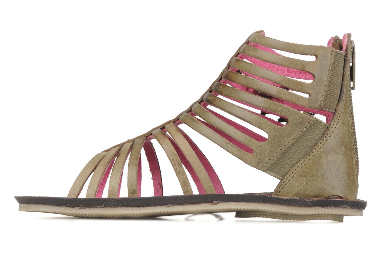 Sandales et nu-pieds Kickers Lilou Vert vue face