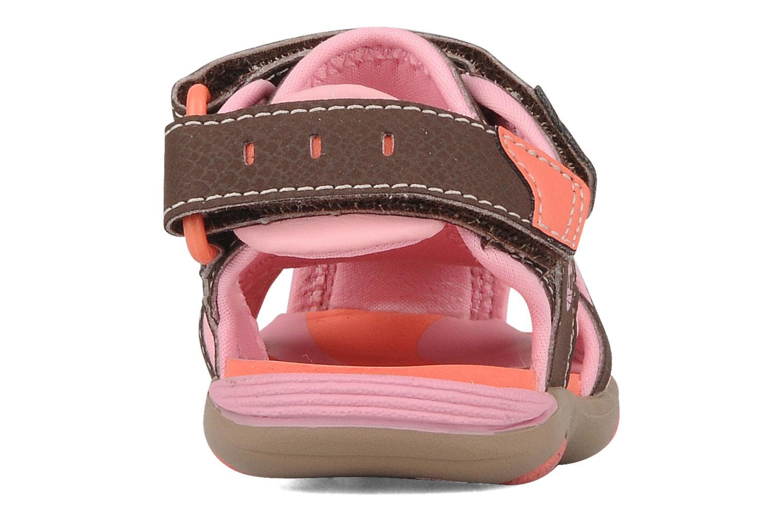 Riverquest closed toe sandal Brown Pink
