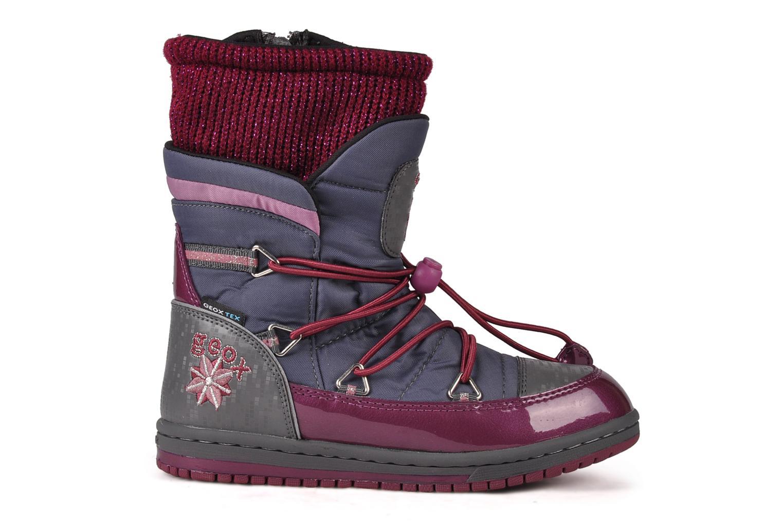 Bottines et boots Geox J glitter wp b Gris vue derrière